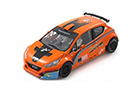 SCALEAUTO - PEUGEOT 208 T16 ORANGE/WITHE CLUB EDITION