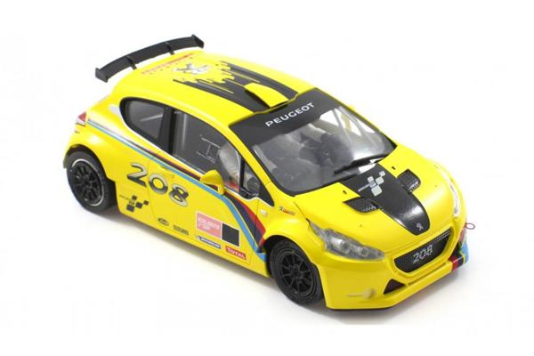 1 - SCALEAUTO - PEUGEOT 208 T16 YELLOW