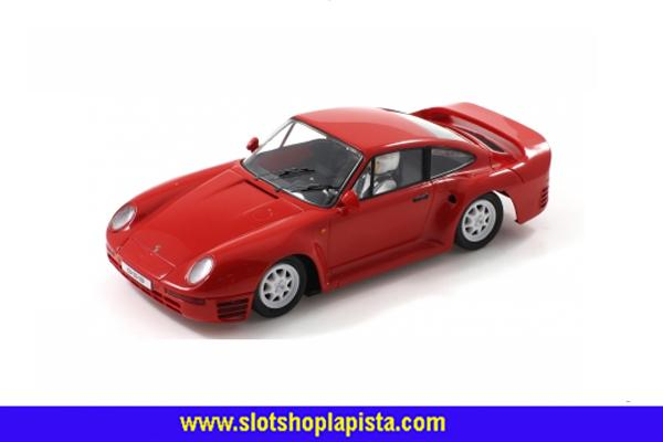 1 - SCALEAUTO - PORSCHE 959 STREET CAR RED